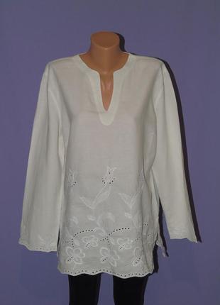 В наличии натуральная блузочка с вышивкой