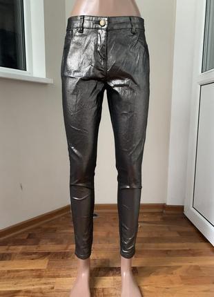 Джинсовые штаны с напылением