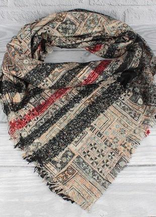 Двусторонний шерстяной платок