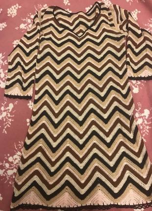 Платье вязаное крючком ручная работа