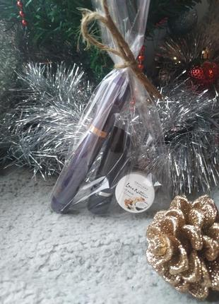 Набор подарочный: тушь для ресниц 5 в 1, помада, бальзам для губ кокос
