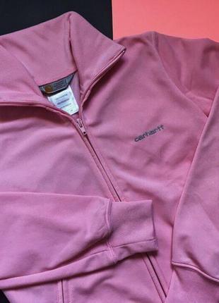 Женская розовая кофта carhartt(олимпийка)