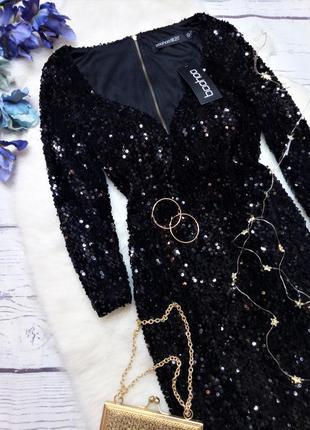 Розкішна новорічна сукня в пайетки