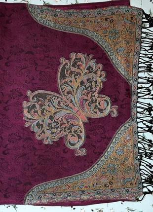🎁1+1=3 стильный розовый длинный палантин шарф платок с бабочкой