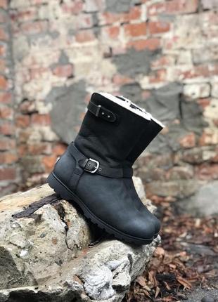 Сапоги ugg женские кожаные оригинальные на меху зимние ботинки