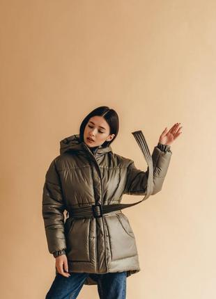 Новая хаки зимняя куртка