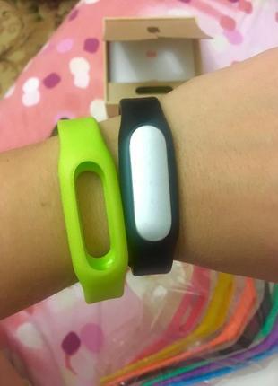 Xiaomi mi band 1s pulse black часы шагомер фитнес браслет и 8 новых ремешков в подарок!