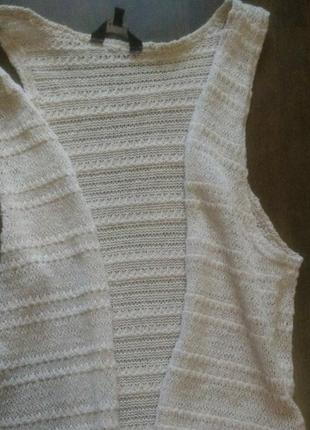 Удлиненный жилет/накидка/кардиган new look