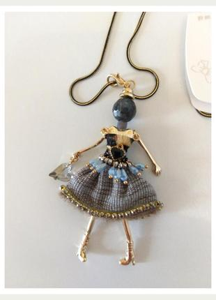 Кулон-брелок на цепочке девушка модница dualiya