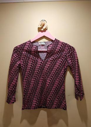 Блузка/ кофта водолазка морган розовая шикарный вырез