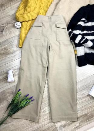 Очень крутые плотные джинсовые кюлоты на высокой посадке от zara 🔥