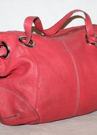 Большая кожаная сумка от betty jackson 100% натуральная кожа