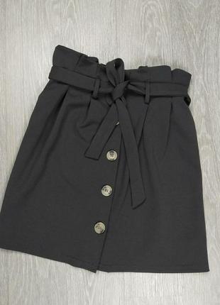 Юбка черная с поясом