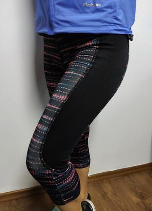 Лосины (капри) workout с принтом