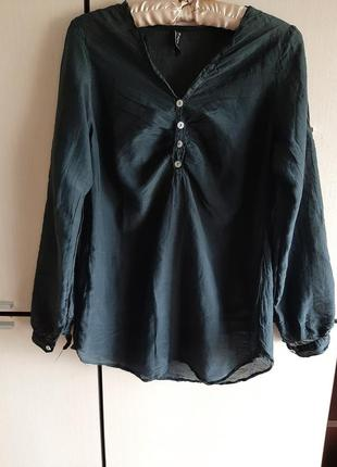 Шелковая кофта блуза италия zebra