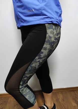 Лосины (капри) workout камуфляж