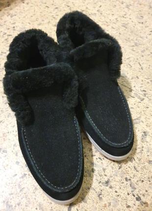 Ботинки зимнии натуральная овчина /натуральная замша