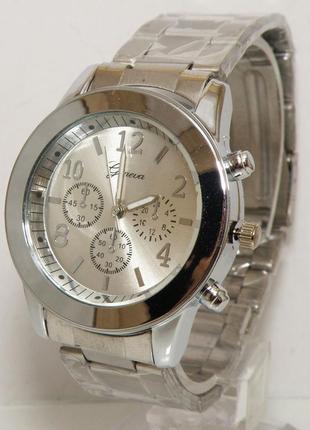 Стильные женские часы geneva женева металлический браслет