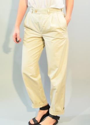 4032\100 бежевые брюки из хлопка m