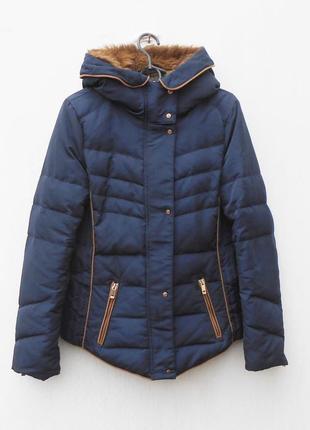 Зимняя теплая куртка пуховик zara