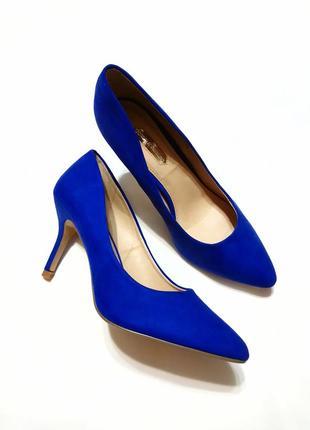 Ярко-синие туфли лодочки dorothy perkins