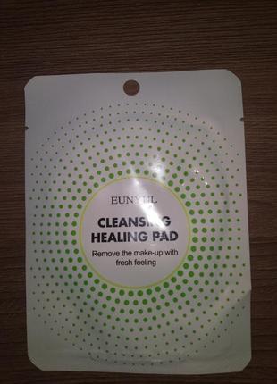 Котоновая подушечка для демакияжа с кислотами eunyul cleansing healing pad - 1 шт