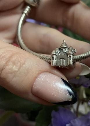 """Шарм на браслет pandora """"замок принцессы"""""""