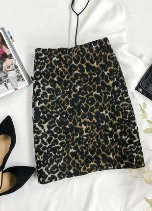 Леопардовая юбка , тёплая