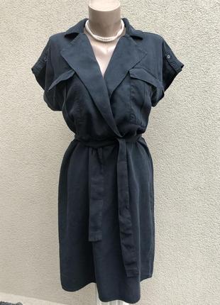 Серо-чёрное платье реглан,на запах по груди,кэжуал,дания,
