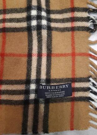Кашемировый шарф burberry, made in england