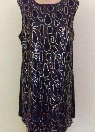 Красивое платье в пайетки avon