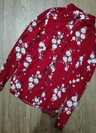 Рубашка свободного кроя 💣 💥 h&m ❤️