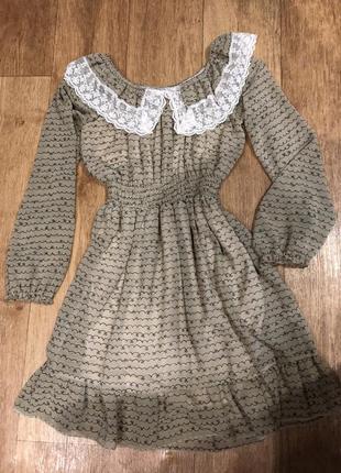 Шифоновое платье с подкладкой
