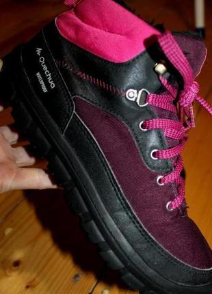 39 разм. ботинки зимние quechua waterproof. термо. не промокают