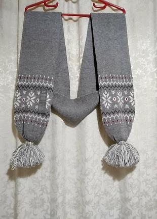 Tcm tchibo. длинный шерстяной шарф 15х200