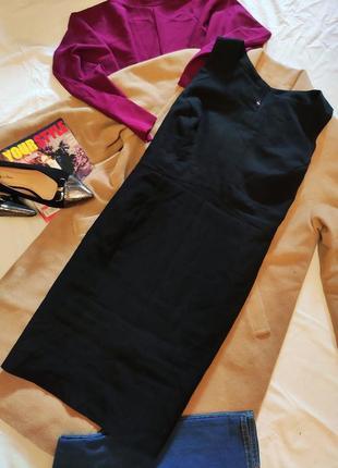 Платье чёрное классическое деловое офисное футляр карандаш атмосфера