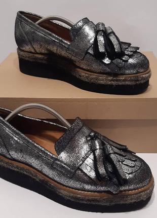 Женские туфли/жіночі шкіряні туфлі