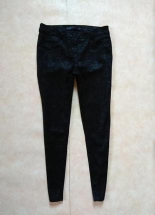 Стильные черные джинсы скинни с пропиткой next, 12 размер.