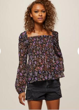 Брендовая шифоновая блуза miss selfridge индия цветы этикетка