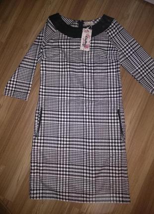 Супер платье в клеточку