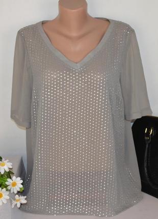 Брендовая шифоновая блуза next индия паетки большой размер
