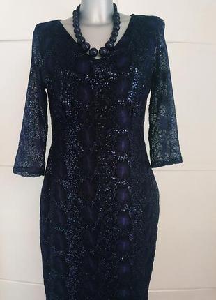Нарядное кружевное платье marks & spencer с пайетками