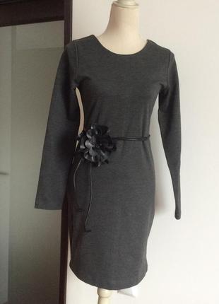 Платье плотный трикотаж zara
