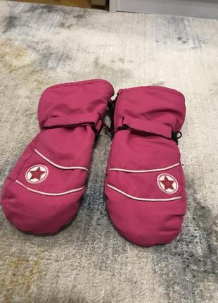 Краги перчатки варежки лыжные 5-7 лет