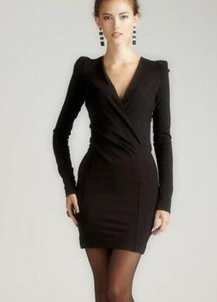 French connection маленькое черное платье, декольте на запах, р.12-40, м-ка