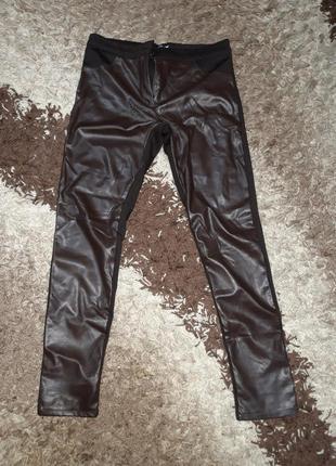 Женские кожаные брюки 50 р
