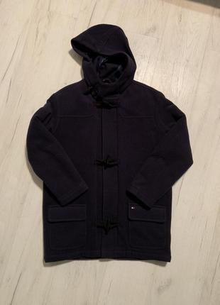 Пальто унисекс tommy hilfiger томи хилфигер размер xs, s.   цвет темно синий