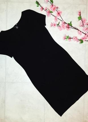 1+1=3 крутое черное трикотажное платье по фигуре приталенное h&m, размер 42 - 44