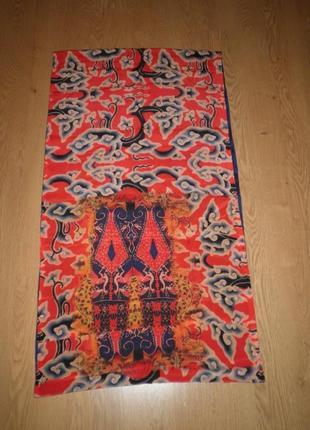 Изящный модный двухсторонний шёлковый шарф хомут jennifer pollock 100х55см