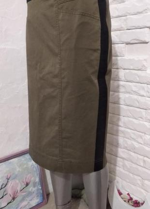 Котоновая юбка карандаш с лампасами gerry weber